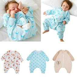100% Cotton Soft Baby Infant Wearable Blanket Sleeping Bag F