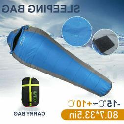 3 Season Sleeping Bag Waterproof Camping Hiking Suit Case En