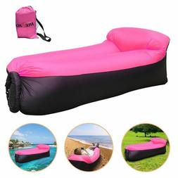 Air Sleeping Bag Lazy Chair Lounge Sofa Bed Inflatable Campi