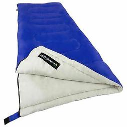 Blue Adult Sleeping Bag 2-Season 75 X 32 Inches Wide for Cam