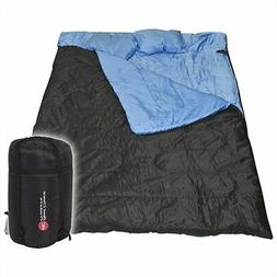 Brand New Double Sleeping Bag For Adults w/Pillow Camping Ba