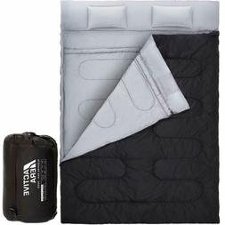 Cold Weather Sleeping Bag Queen Size 2 Person Two Double For