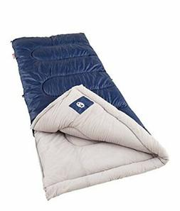 Coleman Palmetto Cool Weather Adult Sleeping Bag, Navy,20-40