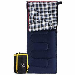 REDCAMP Cotton Flannel Backpacking Sleeping Bag for Adults C