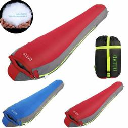 Cotton Flannel Backpacking Sleeping Bag for Adults Camping E