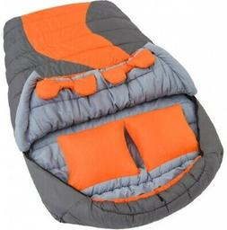 Double Mummy Sleeping Bag 2 Person to Fiber Fill 20F Degree