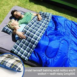 ANTEROOF Double Sleeping Bag Cotton Flannel Waterproof Outdo