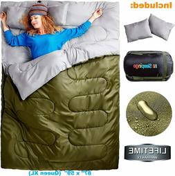 Cold Weather Sleeping Bag f 0 Degree 2 Person Two Double For