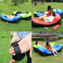 Fast Inflatable Beach Chair Outdoor Camping Sofa banana Slee