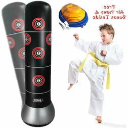 Inflatable Punching Bag with Air Pump for Kids Teens Boys an