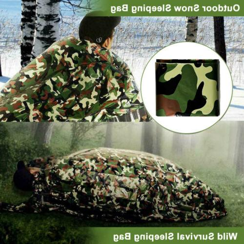 2 Pack Camouflage Sleeping Outdoor Survival Camping Hiking Travel