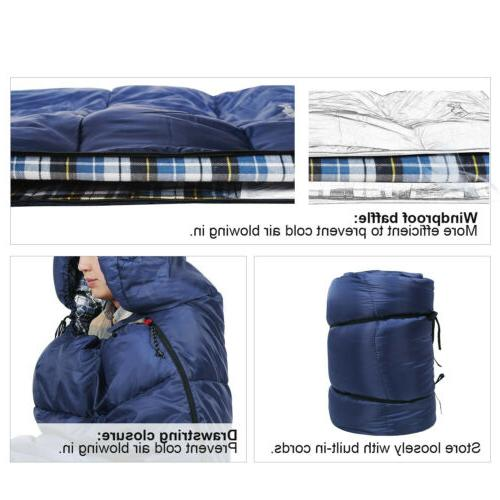 """91""""x35"""" Cotton Flannel Sleeping Bags"""