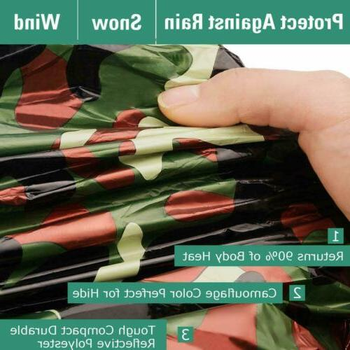 Camouflage Reusable Emergency Sleeping Thermal Camping
