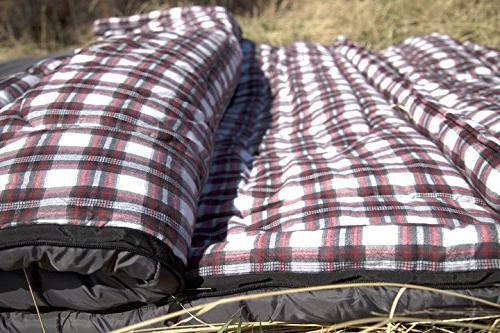 TETON Sports 0F Bag; Warm Double Sleeping Great for Camping; Compression Sack