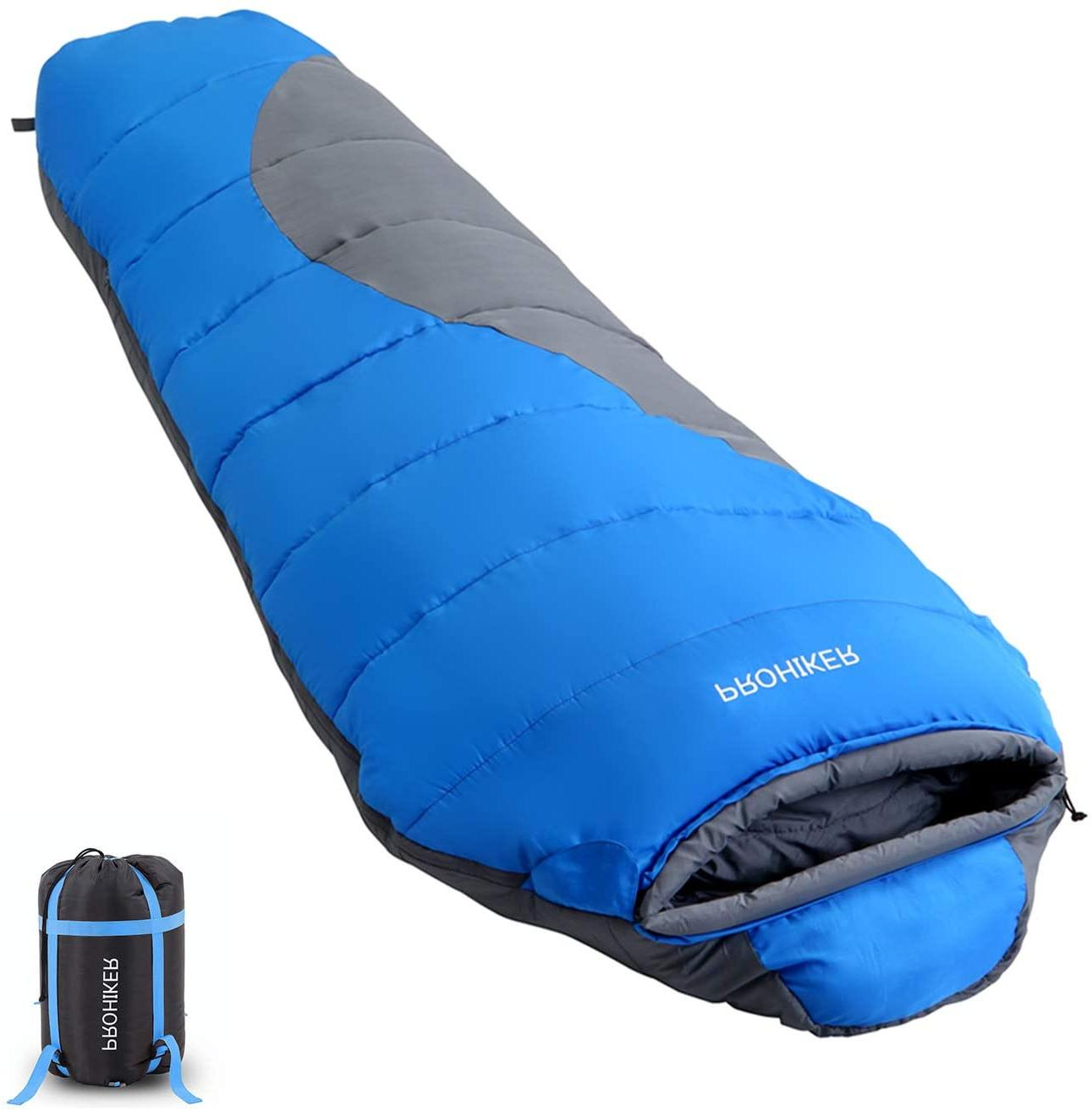 mummy sleeping bag lightweight for adults cold