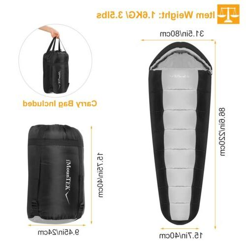 -5-10 ℃ Sleeping Bag Cold Weather Compact Travel Case