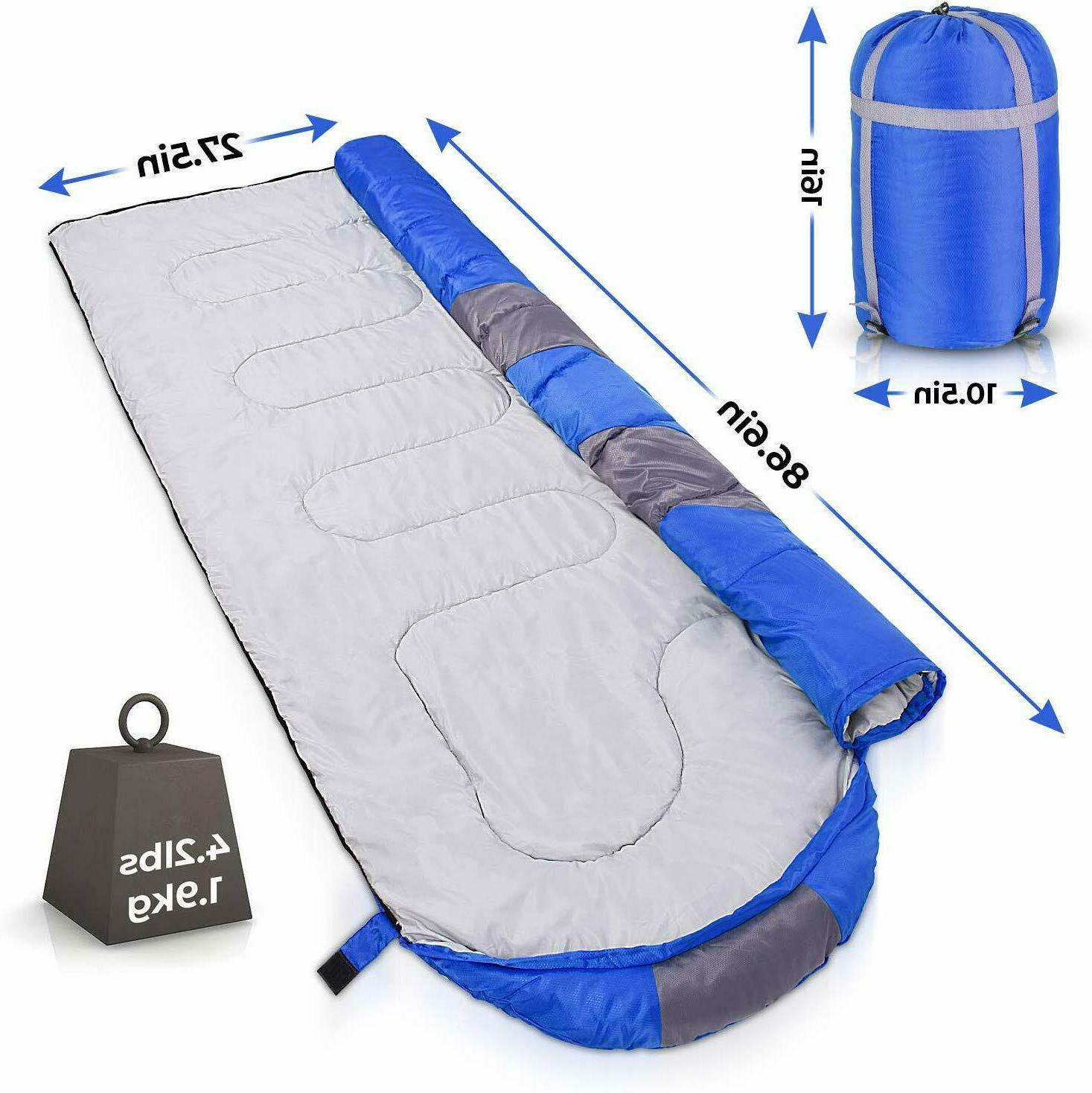 Sleeping Bag - Lightweight Portable, With Great Traveling, Camping, Hiking, Outdoor Activities.
