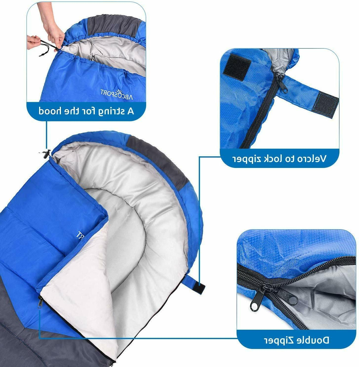 Sleeping Envelope Lightweight With - Great For 4 Traveling, Camping, Hiking, Outdoor Activities.