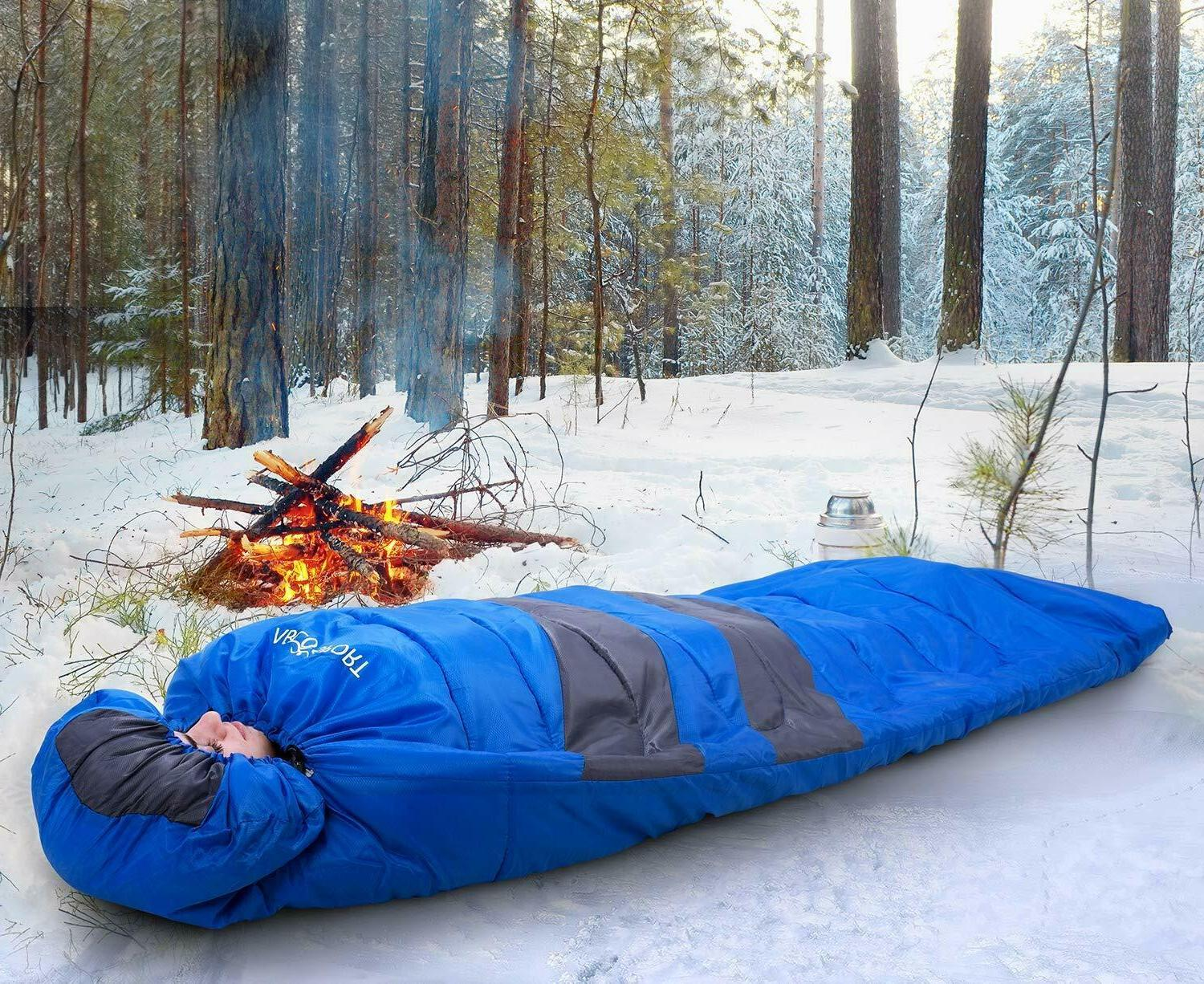 Sleeping Bag - Lightweight Portable, Waterproof, With Compression Great Traveling, Camping, Outdoor Activities.