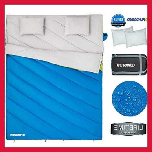 Sleeping Bag Double 2 Person For Cold Weather L 220X168cm