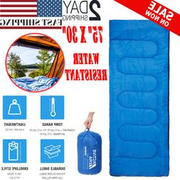 Lightweight Sleeping Bag Camping Backpacking Cold Weather Co