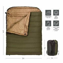 Mammoth Sleeping Bag Flannel Lined Cold Weather Camping Gear