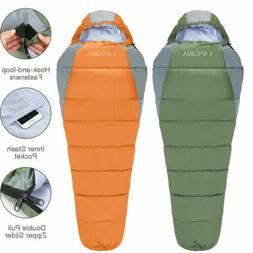Mummy Camping Sleeping Bag w/ Compact Compression Sack for A