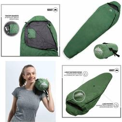 Mummy Warm Cold Weather Sleeping Bag With Compression Sack F