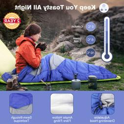 Outdoor Envelope Sleeping Bag For Adults Camping Hiking With