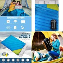 Sleeping Bag Double 2 Person Bags For Adults Cold Weather Ex