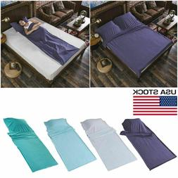 Sleeping Bag Single/Double Liner Travel Sleep Sack Sheet Hik