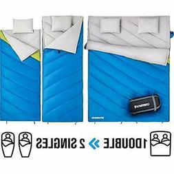 Sleeping Bags Bag Double 2 Person For Adults Cold Weather Ex