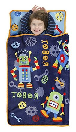 Baby Boom Toddler Nap Mat, Action Robots/Blue/Red